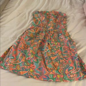 Lilly Pulitzer, small, strapless dress
